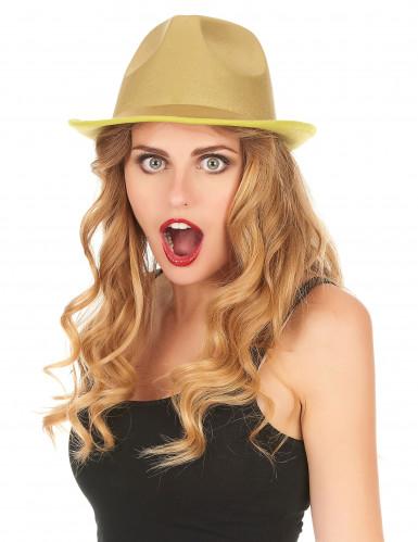 Cappello borsalino dorato adulto-1