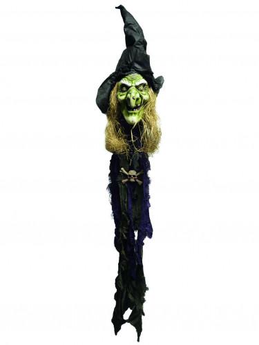 Decorazione di Halloween: testa di strega verde