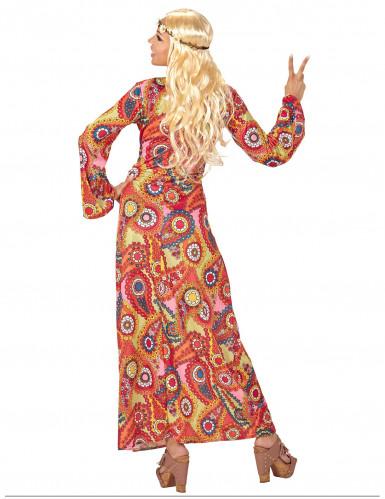 Costume abito lungo hippie multicolore Donna-1