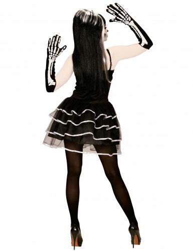 Costume scheletro effetto tutu da donna halloween-1