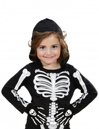 Guanti con ossa e teschio per bambino - Halloween-1
