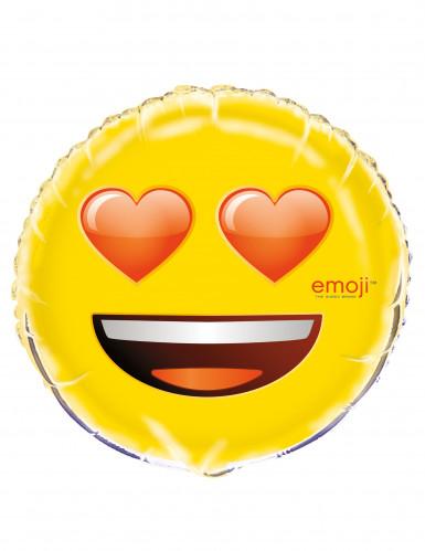 Palloncino alluminio cuori negli occhi Emoji™