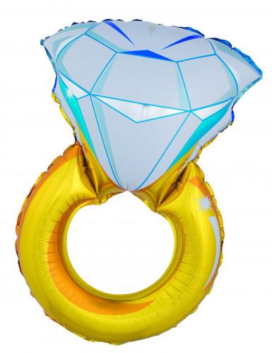 Palloncino d'alluminio giagante Anello con diamante