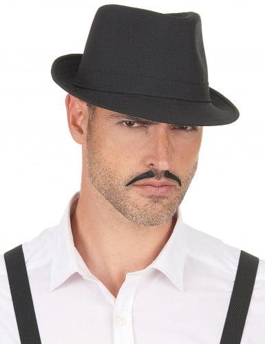 Cappello borsalino nero adulto-2