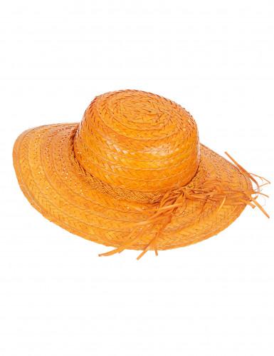 Cappello di paglia vintage arancione
