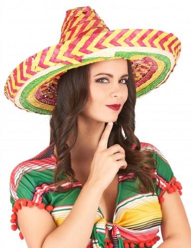 Sombrero messicano tutti i frutti adulto-2