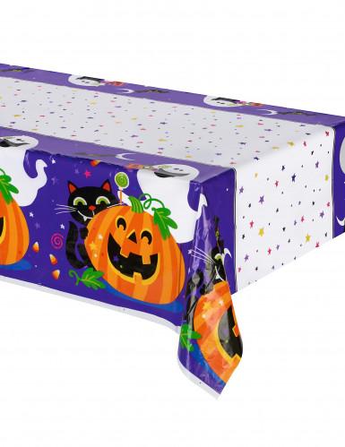 Tovaglia in plastica zucca e compagnia Halloween