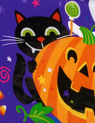 Tovaglia in plastica zucca e compagnia Halloween-1