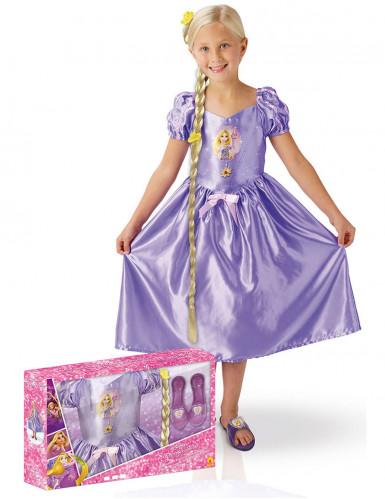 Costume Raperonzolo™ classico bambina con cofanetto