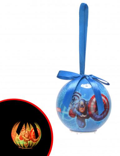 Palla luminosa di Natale Avengers™ 7.5 cm