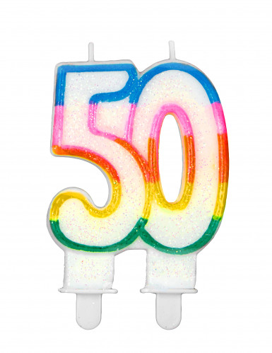 Candelina arcobaleno per compleanno 50 anni