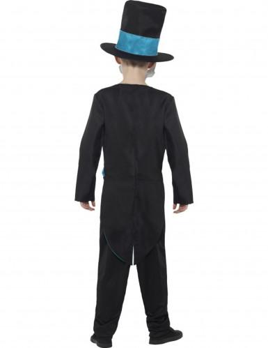 Costume da scheletro blu Dia de Los Muertos per bambino-1
