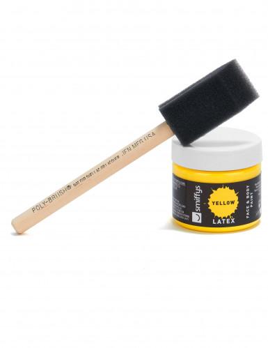 Kit trucco lattice liquido giallo con spugnetta 59 ml-2