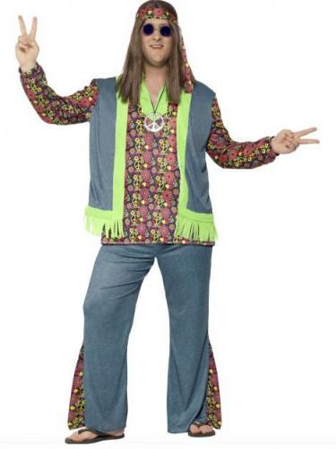 Costume hippie fiori Uomo