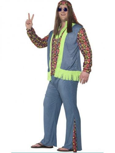 Costume hippie fiori Uomo-1