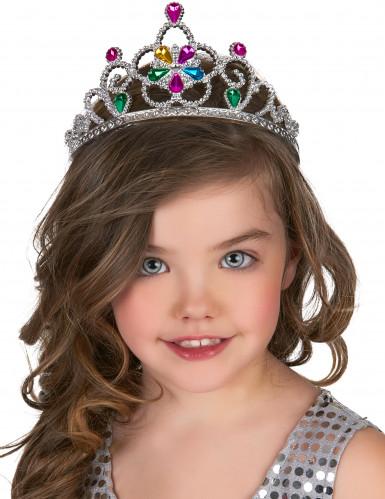 Diadema da principessa multicolore per adulto e bambino-1