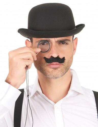 Confezione di baffi neri per adulto-1