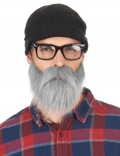Baffi e barba grigia da adulto-1