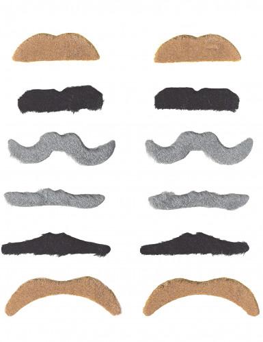 Confezione 12 baffi per adulti