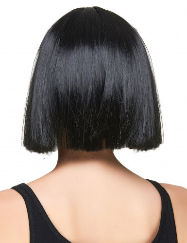 Parrucca a caschetto liscio e nero per donna-1