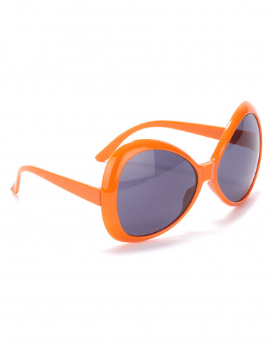Occhiali disco arancioni adulto