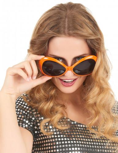 Occhiali disco arancioni adulto-1