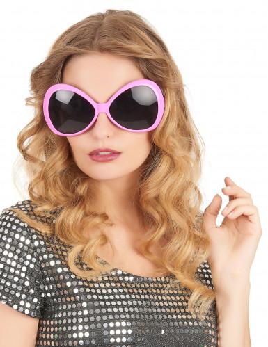 Occhiali disco rosa per adulto-1