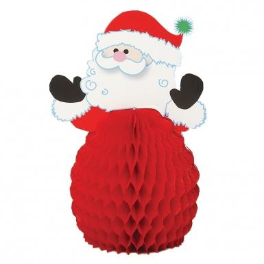 4 mini centro tavola Babbo Natale 15 cm