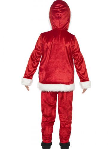 Costume di Babbo Natale con grossa pancia e chip sonoro per bambino-1