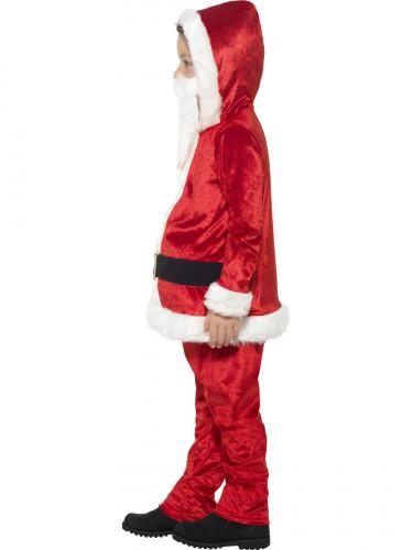 Costume di Babbo Natale con grossa pancia e chip sonoro per bambino-2