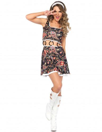 Costume hippie groovy donna