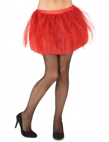 Tutù rosso con sottogonna opaca da donna