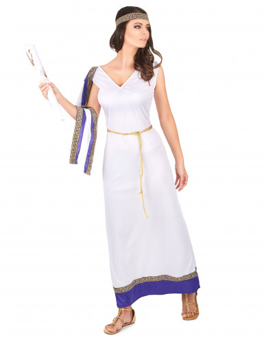 Costume romano lungo viola Donna-1
