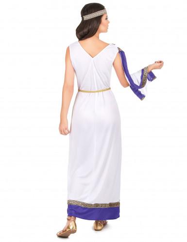 Costume romano lungo viola Donna-2