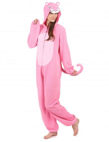 Tuta con cappuccio pantera rosa donna