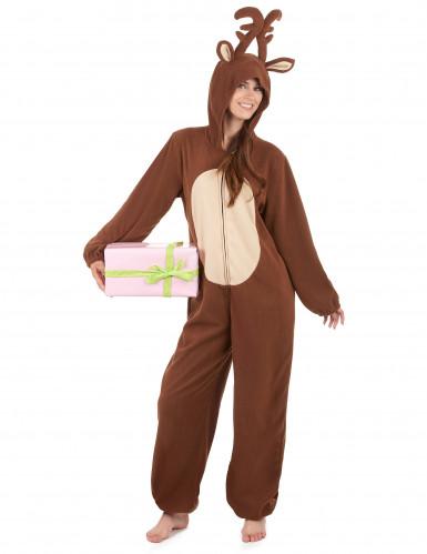 Tuta con cappuccio renna donna