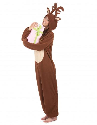 Tuta con cappuccio renna donna-1