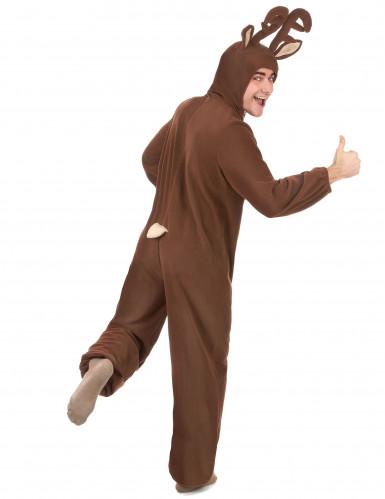 Costume renna con cappuccio Adulto-2