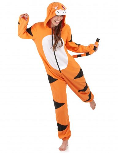 Costume tigre con cappuccio tigre Donna
