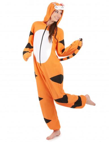 Costume tigre con cappuccio tigre Donna-1