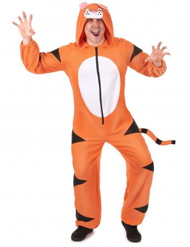 Costume tigre con cappuccio Adulto