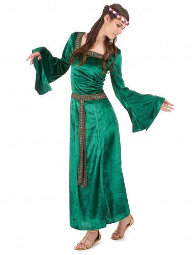 Costume medievale verde donna-1
