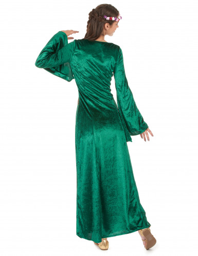 Costume medievale verde donna-2