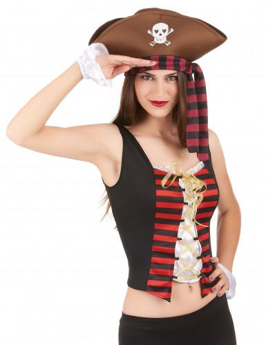 Corsetto e manicotti da pirata per donna