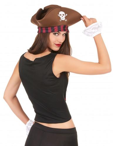 Corsetto e manicotti da pirata per donna-1