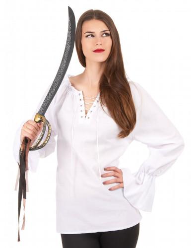 Camicia maniche lunghe bianca Donna