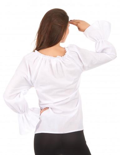 Camicia maniche lunghe bianca Donna-1