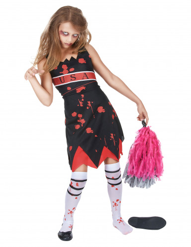 Costume da ragazza pompon zombie per bambina