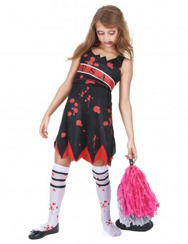 Costume da ragazza pompon zombie per bambina-1