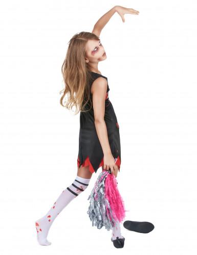 Costume da ragazza pompon zombie per bambina-2